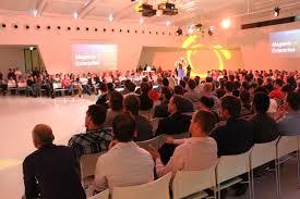 Presenteren aan een volle zaal